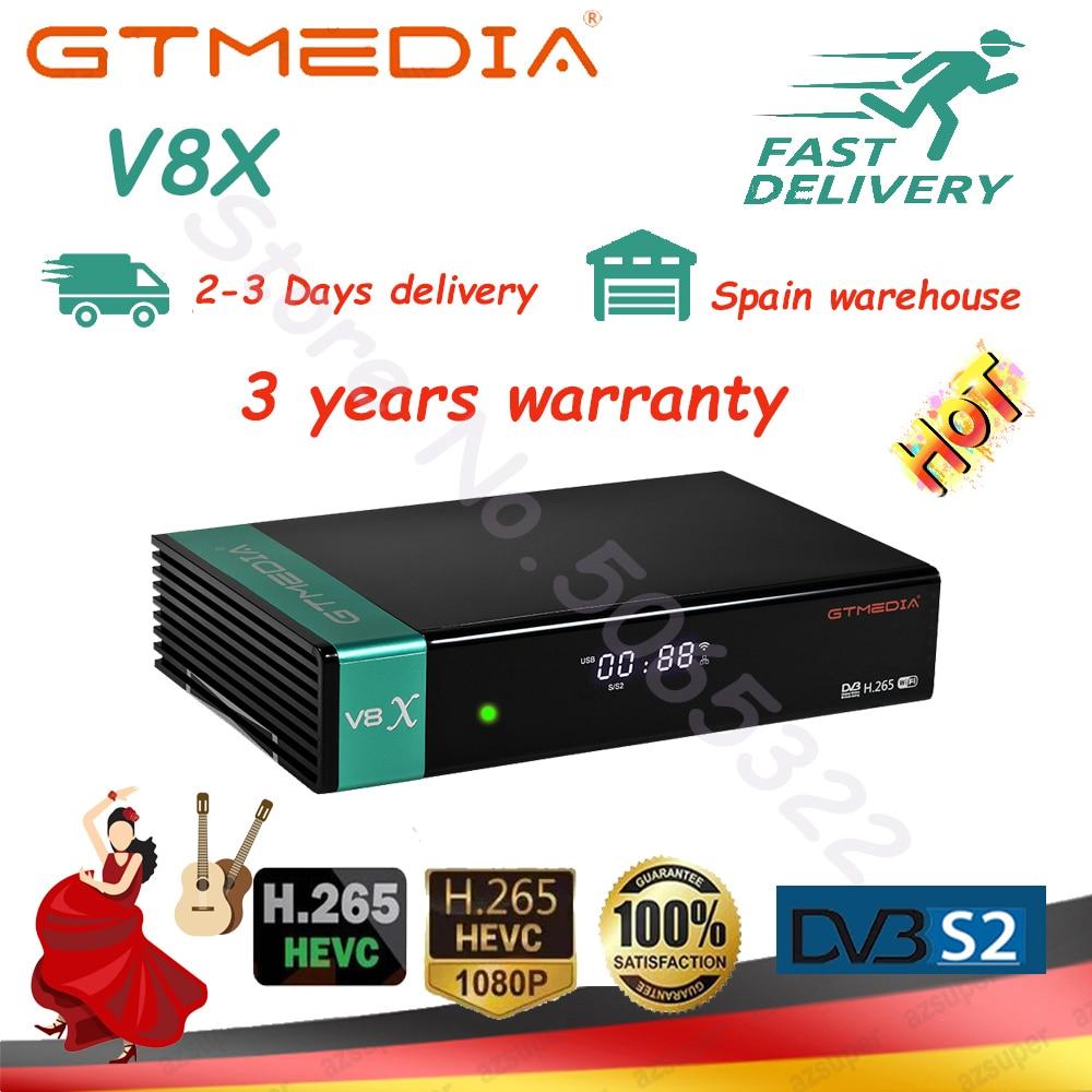 Испания склад gtmedia V8X DVB-S2 спутниковый recepoter также gtmedia V7 s2x так же, как и V8 nova/V8 honor Быстрая доставка без приложения