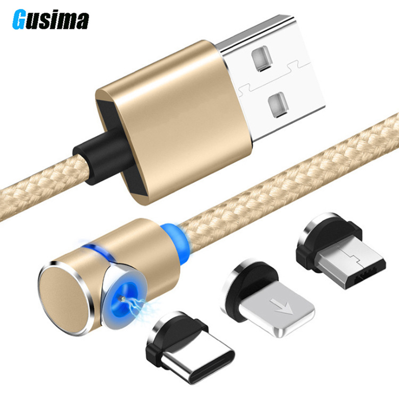 2.4A Fast Magnetic Cable For iPhone XS X XR 7 Micro USB Quick Charger Type C Magnet Android