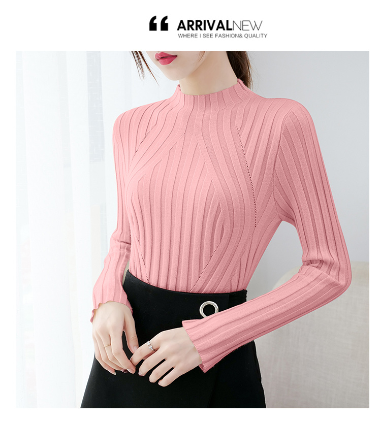 Sweaters fashion 19 women sweaters ladies winter clothes women knit solid black long sleeve tops sueter mujer Pullovers 0364 12