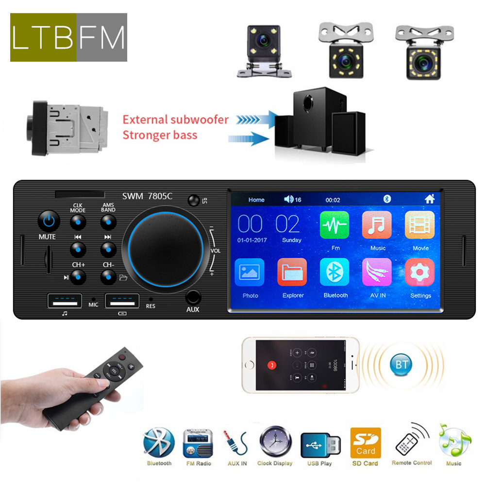 <font><b>1</b></font> <font><b>Din</b></font> <font><b>Car</b></font> Radio Bluetooth Autoradio Multimedia MP3 MP5 Player 4.<font><b>1</b></font>