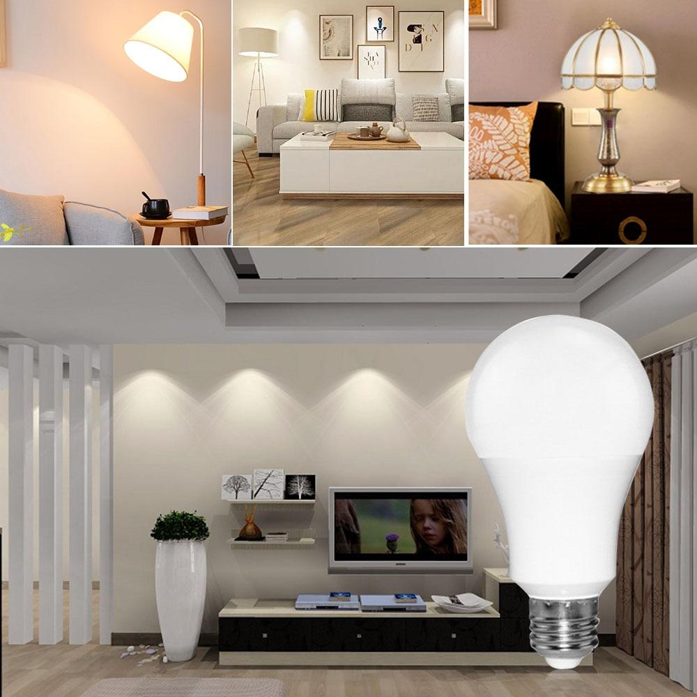 JESLED E27 LED Lamp E14 220V Lampada Led Bombilla Ampoule 3W 7W 12W High Lumen Spotlight LED Light Bulb Home Decor Lighting