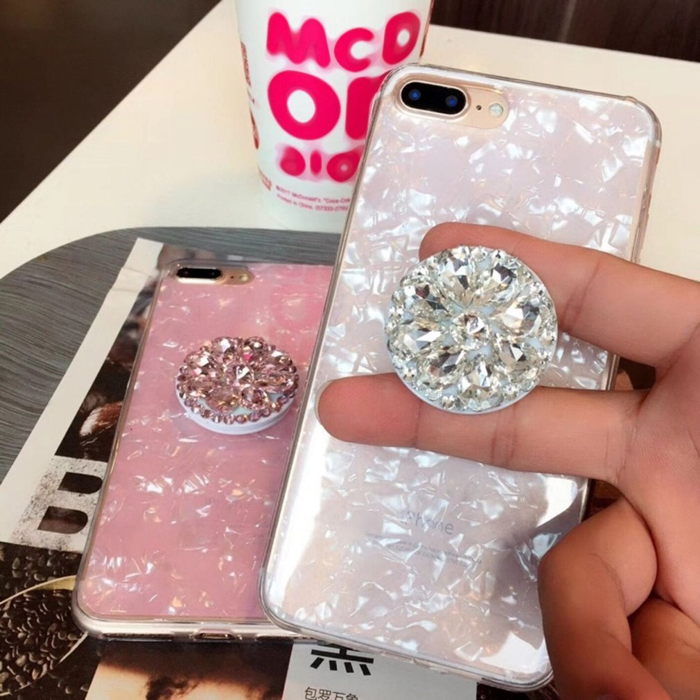 Air Gasbag Balloon Finger Ring Mobile Phone Smartphone Telescopic Rotation Stand Holder With Diamond