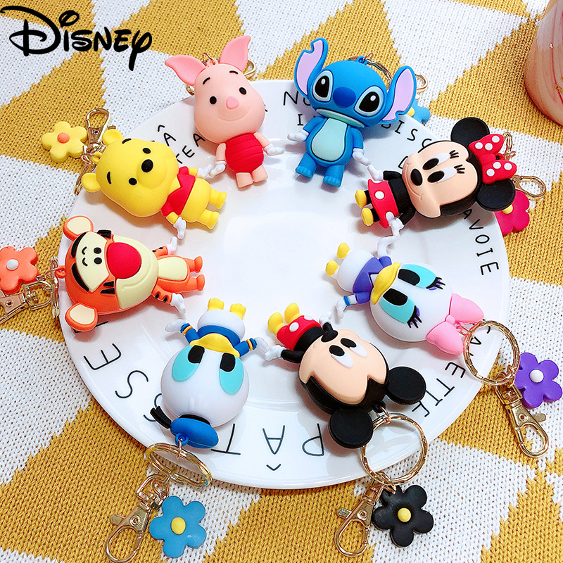 2020 Hot Sale Disney Mickey Keychains Cute Cartoon Baby Boy Girl Key Ring Women Lovely Bag Key Chain Monster New Key Accessories