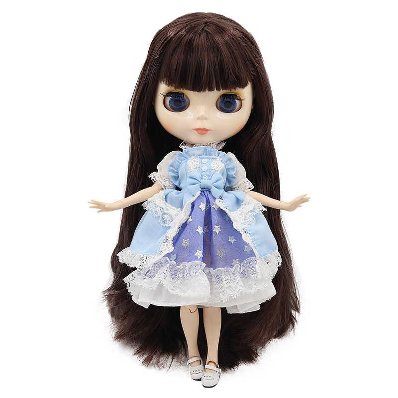 מפעל Blyth הבובה לבן עור מבריק פנים משותף גוף עם יד להגדיר & B 1/6 אופנה בובת מתאים diy איפור מיוחד מחיר לא 2
