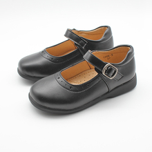 Toddler Girls Shoes Back To School Shoes for Kids Girls Dress Party Shoes PU Leather Black Shoes Wedding Princess Uniform Shoe cheap just one sight Fits true to size take your normal size Flat with Buckle 2-6 years old 7-15 years old Girls Stylish Faux Leather Shoes