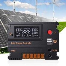 10A/20A 12 V/24 V ЖК-дисплей за максимальной точкой мощности, Солнечный контроллер заряда Панель Батарея Регулятор автоматического переключения защита от перегрузки CMG-2410/CMG-2420