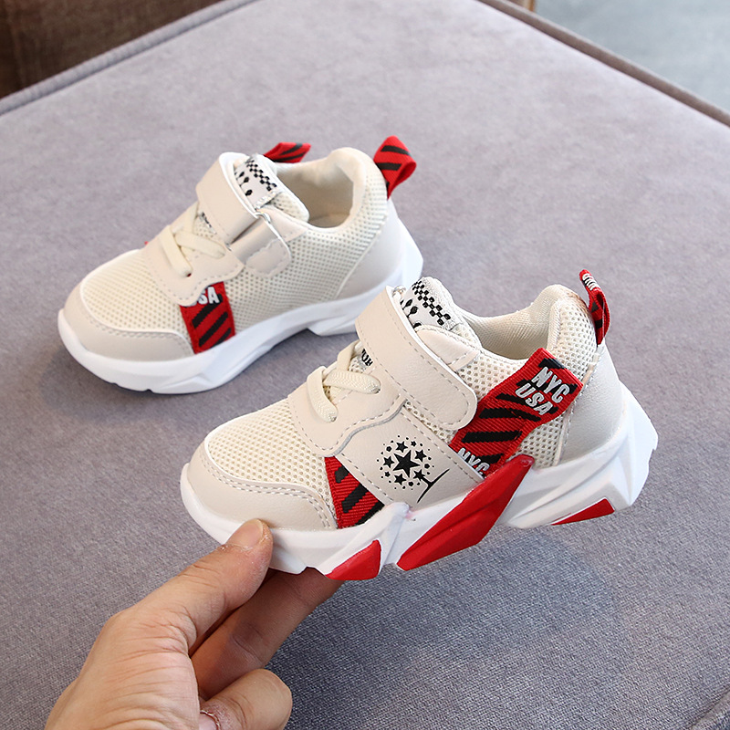New 2020 Boy Shoes Toddler Girl Sneakers Fashion Casual Sports Shoes Mesh Breathable Children Flats Baby Off White Brand Shoes