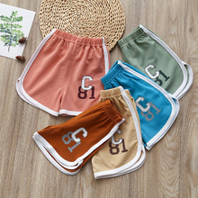 Children Shorts Baby Girls Summer Pants Candy-Color Boys Kids Casual Korean 1-5years