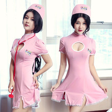 Sexy Nurse Costume Erotic Costumes Role Play Women Erotic Lingerie Female Sexy Underwear Red Cross Uniform Games Night(China)