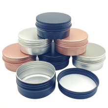 24Pcs 50g Aluminum Jars 50ml Black Silver Rose-gold Metal Tin Cosmetic Containers Crafts Colorful Aluminum Boxs Fast Shipping