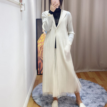 Changpleat 2020 spring new Women Hooded Trench Coat Miyak Pleated Fashion solid