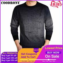 COODRONY Cashmere Sweater Men Brand Clothing Mens Sweaters Print Casual Shirt Autumn Wool Pullover Men O Neck Pull Homme Top 613