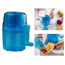 Trituradora de hielo portátil de mano, Mini máquina de hielo afeitado para el hogar, pequeña trituradora de hielo, máquina de hacer conos de Nieve Azul