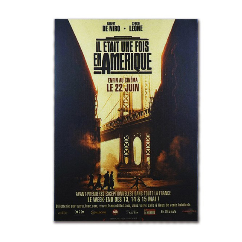Once Upon A Time In America Decor Vintage Kraft Paper Classic Movie Poster Map School Wall Office Decoration Art Retro Prints