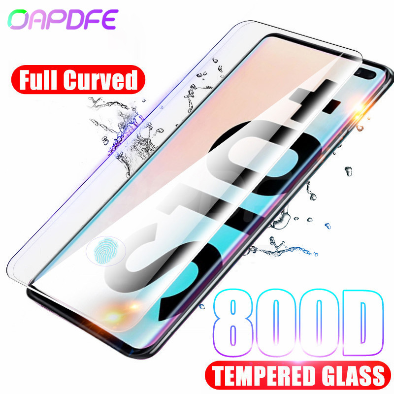 800D Curved Protective Glass For Samsung Galaxy Note 8 9 10 Plus Screen Protector For S7 Edge S10 S9 S8 Plus S10e Tempered Glass