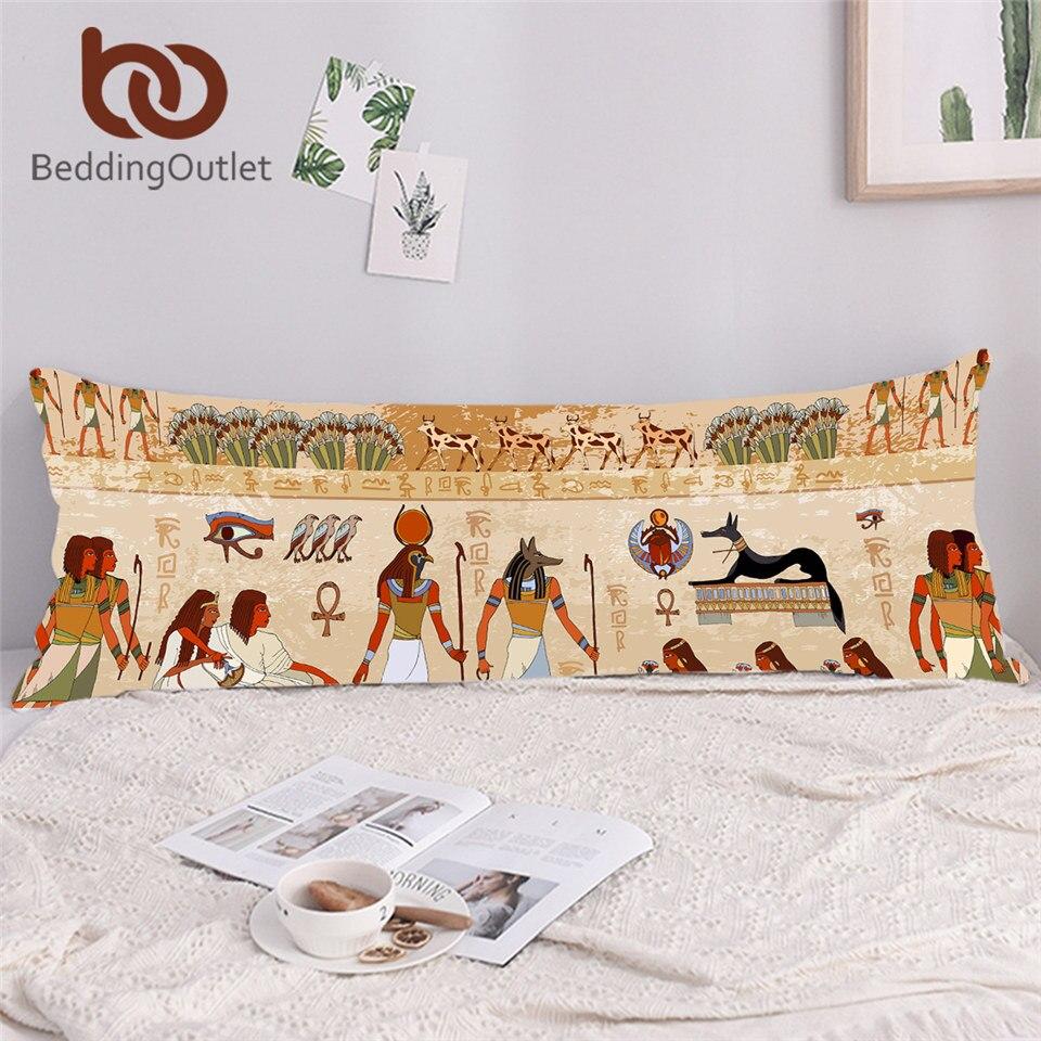 BeddingOutlet Egyptian Body Pillow Case Ancient Egypt Civilization Double Long Pillowcase Rectangle Pillow Cover Bedroom 54x138 1