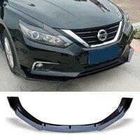 Front Bumper Spoiler Protector Plate Lip Body Kit Carbon Surface Decorative Strip Chin Shovel For Nissan Altima Teana 2016 2018
