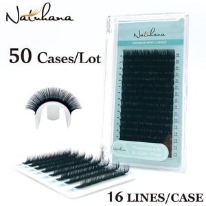 Image 1 - Ресницы натуральные норковые ручной работы, 16 рядов, 50 пачек/партия