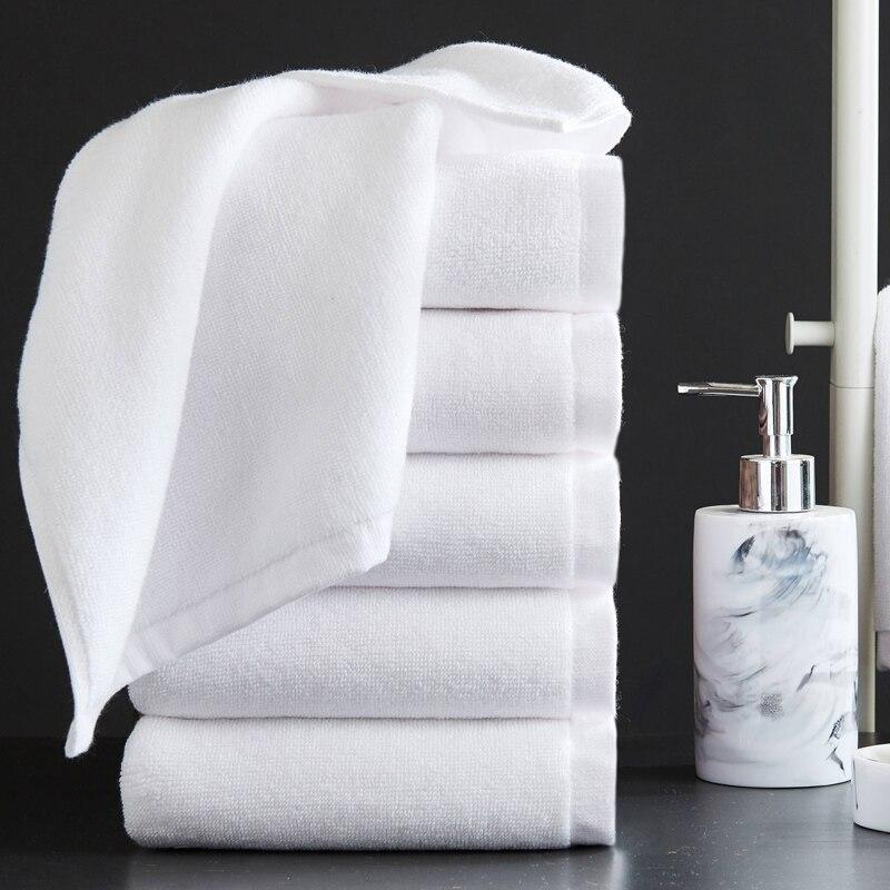 Высококачественное новое банное полотенце из 100% хлопка с белой вышивкой Star Hotel роскошные банные полотенца наборы мягкое впитывающее полоте...