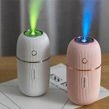 Eloole 300ml usb mini umidificador de ar difusor purificador aroma portátil com luz névoa fabricante ultra sônica para escritório em casa carro
