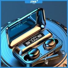 JTKE F9 TWS אלחוטי Bluetooth אוזניות V5.0 9D סטריאו אוזניות ספורט עמיד למים אוזניות אלחוטי אוזניות עם מיקרופון עבור Andro