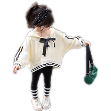 Spring and autumn 2019 new baby girls long sleeve bow hooded suit