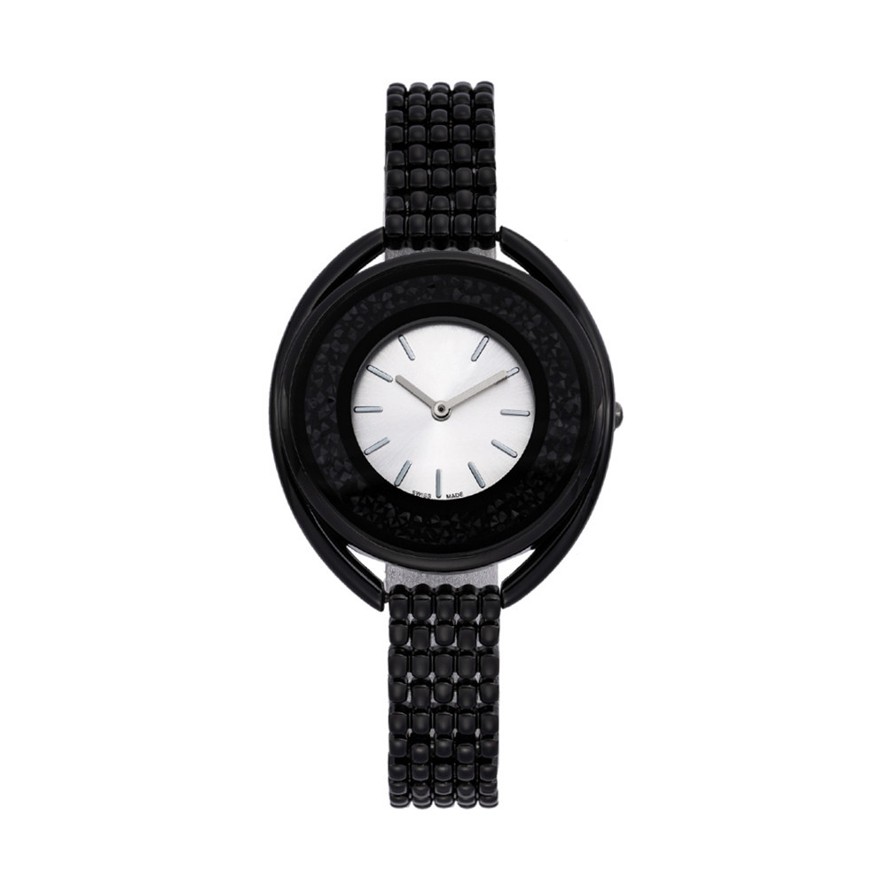 Роскошные Брендовые женские часы с логотипом, черные модные кварцевые наручные часы Zegarek Damski для девочек, подарки 2019