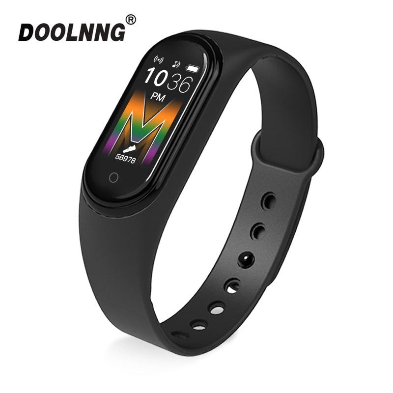 Doolnng M5 Sport Fitness Tracker Call Watch Smartband Smart Bracelet Blood Pressure Heart Rate Monitor Smart Band Wristband Men