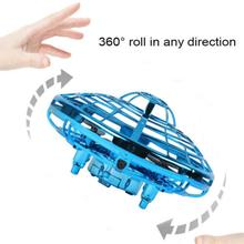 UFO Hand Flying Mini Induction Suspension RC Aircraft Drone Toys Gift Sensing and Lights