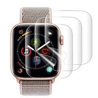 9d completa curvado macio vidro temperado para apple watch 38 40 42 44 mm protetor de tela em eu assistir banda cinta 5 película de vidro protetor|Caixas de relógios| |  -