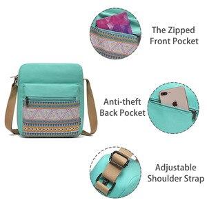 Image 3 - VASCHY Shoulder Bags for Girls Vintage Canvas Small Bag for Women Lightweight Crossbody Bag Messenger Bag with Inner Side Pocket