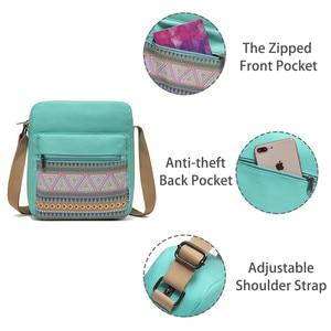 Image 3 - Vaschy のためのヴィンテージキャンバス女性のための軽量クロスボディバッグメッセンジャーバッグと内側ポケット