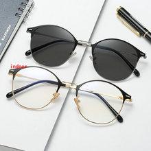 Frame Glasses Myopia-Eyewear Optical Prescription Sun-Photochromic Women FML Finished