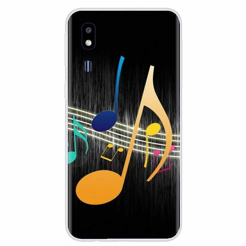 Coque de téléphone en Silicone inspirante Notes de musique violon musique classique Art pour lame ZTE A910 A610 A530 A510