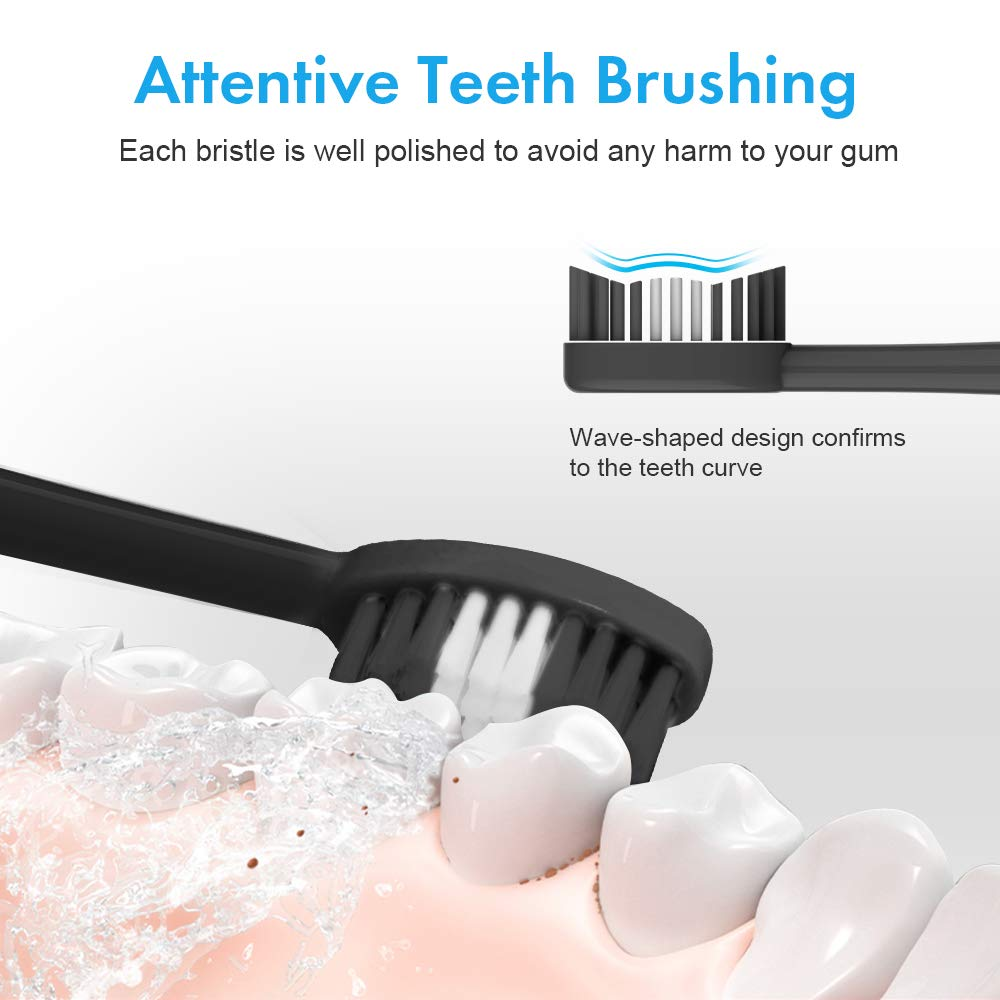 Electric Protable Sonic Dental Scaler Tooth Calculus Remover Cleaner Tooth Stains Tartar Tool with 5 Replaceable Brush Head