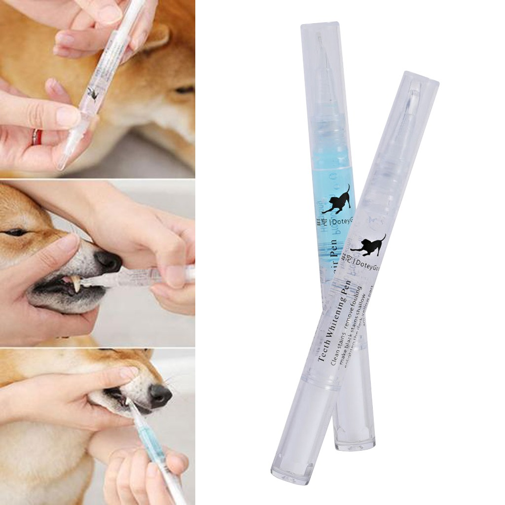 Pet Teeth Cleaning Repair Kit Dog Cat Tartar Dental Stone Cleaning Pen 5ml Teeth Cleaning Pens Set Toothbrushes FH5 Dropshipping