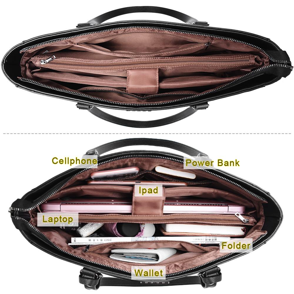 Image 5 - OSOCE laptop bag for women 15.6  briefcase  Waterproof Handbag  Laptop Tote Case luxury Shoulder Bag Office Bags for  notebookBriefcases