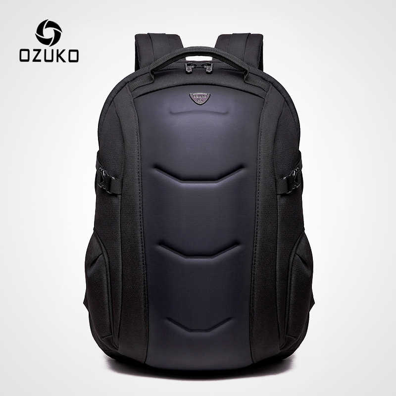 OZUKO Business Waterproof Oxford Backpack for Teenager 15.6 inch Laptop Backpacks Male Fashion Schoolbag Men Travel Bags Leisure