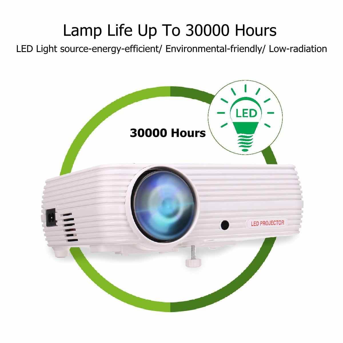 Proyector para cine en casa con pantalla inalámbrica, 7000 lúmenes, Android 6.0.1, Wifi, compatible con vídeo Full HD 1080P 4K con HDMI