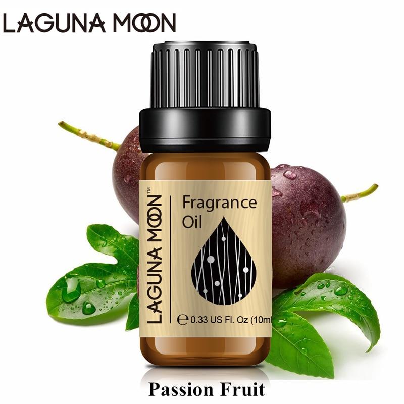 Lagunamoon Passion Fruit 10ml Fragrance Oil Sandalwood Citrus Black Orchid Lily Lemon & Lime Dewberry Rosemary Plant Oil