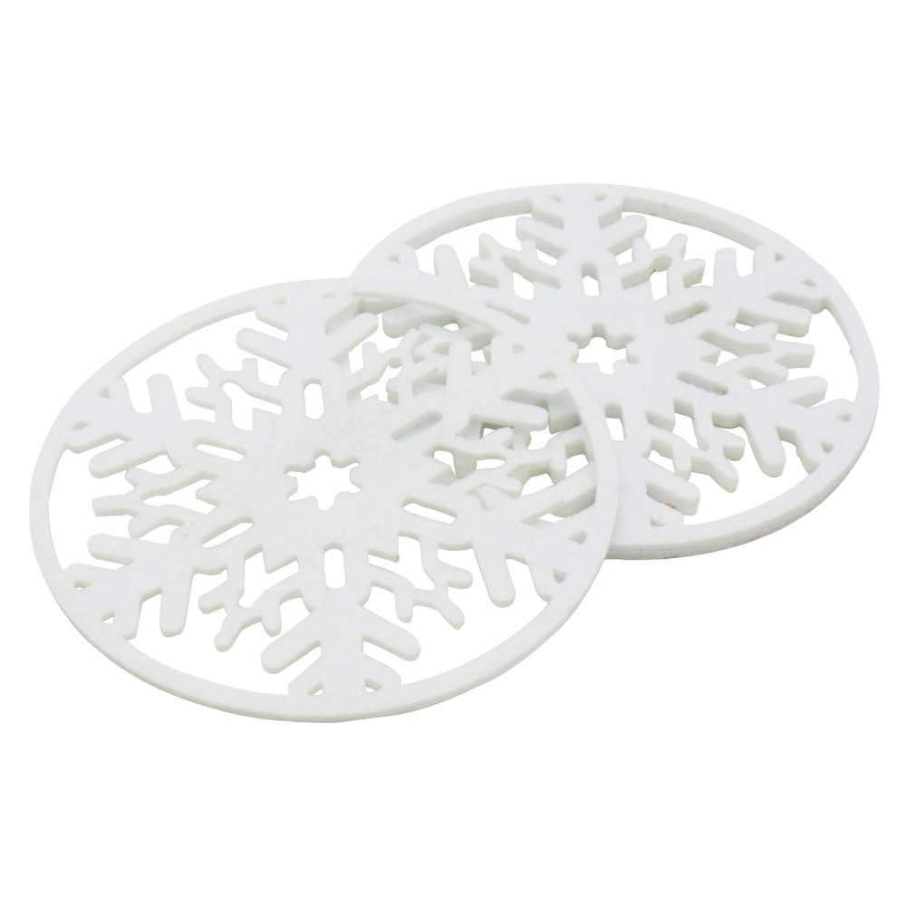 10 adet noel kar tanesi Coaster çay bardağı Placemat pedleri içecekler kahve yastık tutucu Mat noel ev dekorasyonu Xmas hediyeler