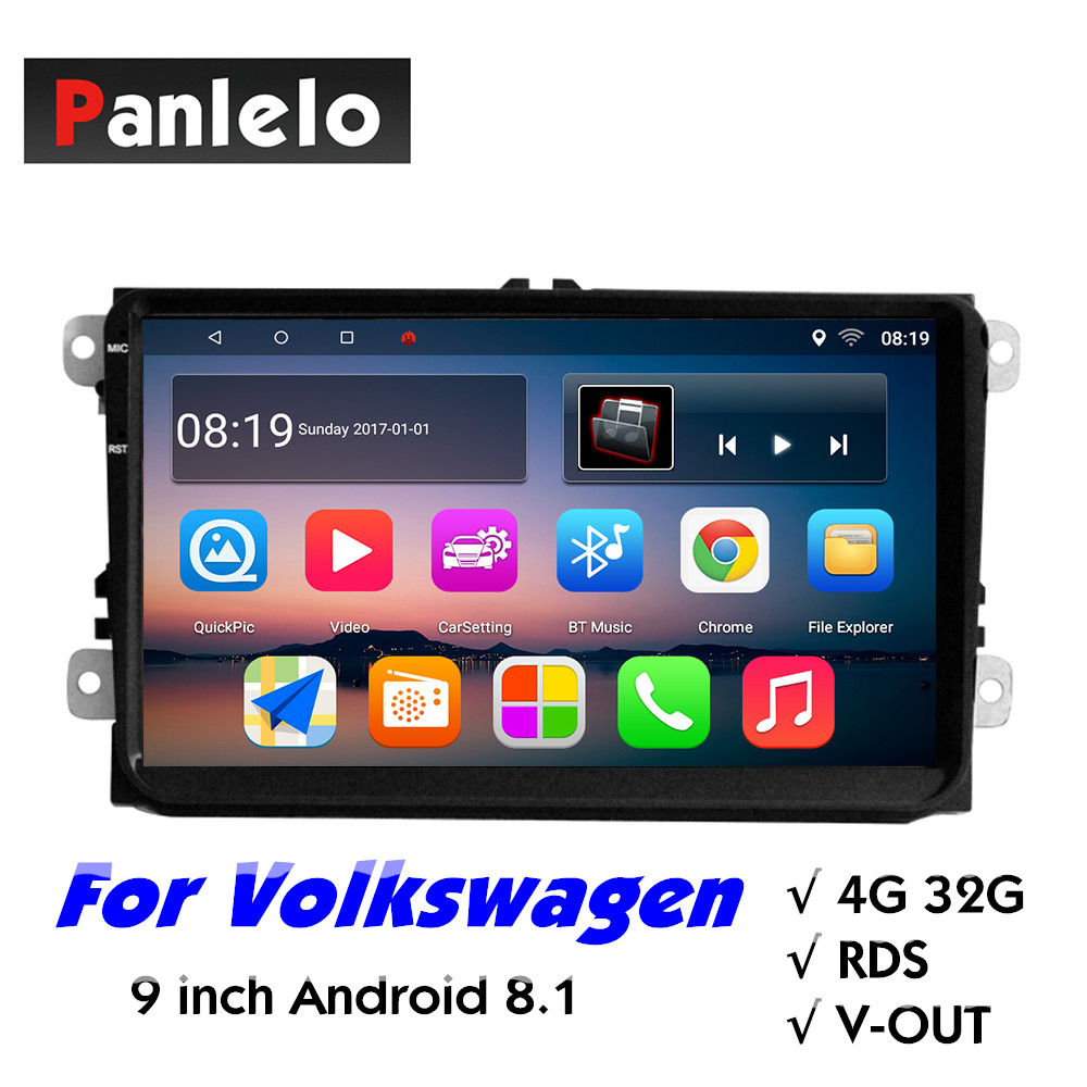S9 Pro 9 pouces pour Volkswagen Android 8.1 autoradio 2 Din 4GB RAM 32GB ROM Android Quad Core 9