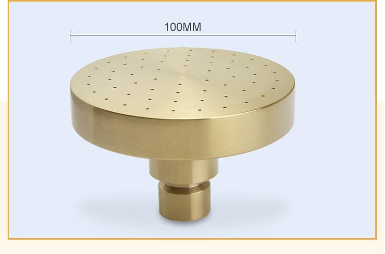 H2596553059cb47bca23f96a6a15ad6fdj Brushed Gold Bathroom Fixture Waterfall Restroom Bath Shower Faucets Set Wall Mounted Brass Rain Shower Faucet Mixer Set