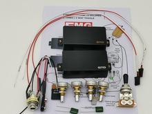 جيتار بيك اب نشط بيك اب همبوكر بيك اب جيتار كهربائي مع ملحقات قياس الجهد 25K + رسومات تثبيت