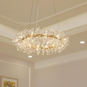Lustre nordique lampe à suspension moderne Cristal luxueux lampara colgante pour salon hôtel Foyer Cristal luminaires Lustre