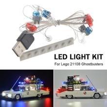 Светодиодный светильник, набор для Lego 21108, автобусное строительство, город, конструкторы, наборы, USB питание, детские игрушки, подарки