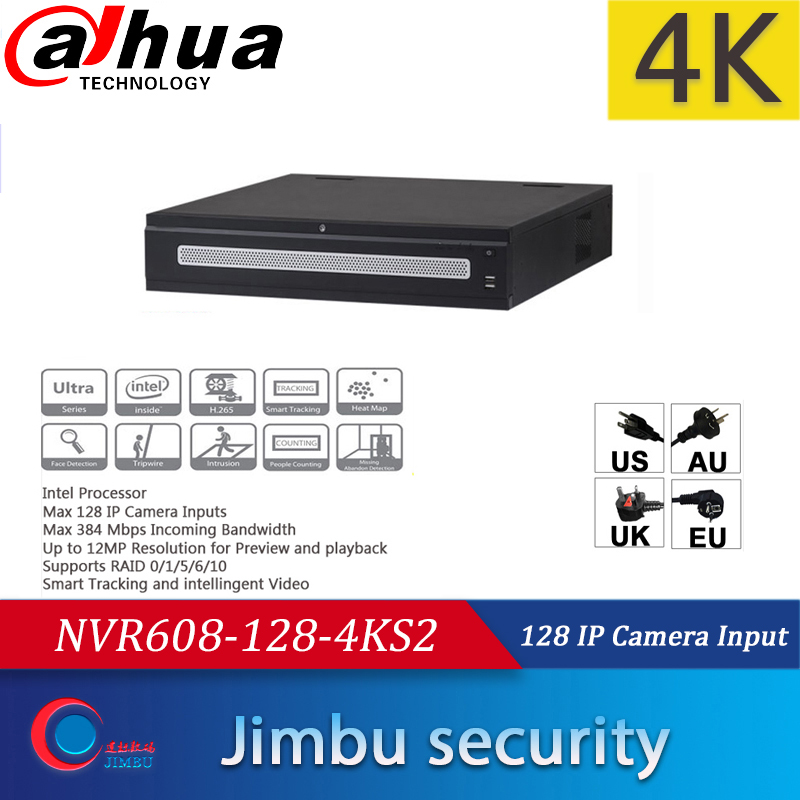 <font><b>Dahua</b></font> NVR NVR608-128-4KS2 128 <font><b>IP</b></font> <font><b>Camera</b></font> Inputs Smart Tracking smart video 32CH 64/128Channel 4K H.265 Up to <font><b>12MP</b></font> NVR608-64-4KS2 image