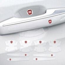 Автомобильные наклейки на дверные ручки 4/8 шт., защитная пленка из ТПУ для Fiat Viaggio 124 125 695 595 Egea Mobi Sedici Toro Uno Croma ABARTH 1100