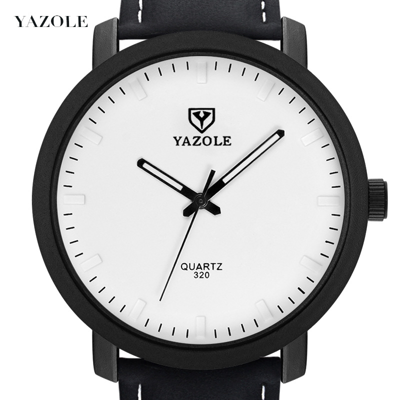 Watch men simple large dial luminous clock PU strap 30m waterproof business dress quartz man watches 2019 relogio masculino