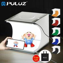 PULUZ Mini 22.5 LED fotoğraf gölgesiz alt işık lambası paneli Pad + 2LED panelleri 20CM ışık kutusu fotoğraf stüdyosu çekim çadır kutusu